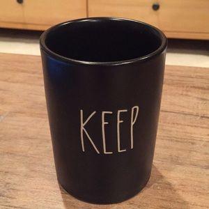 """Rae Dunn """"Keep"""" canister"""